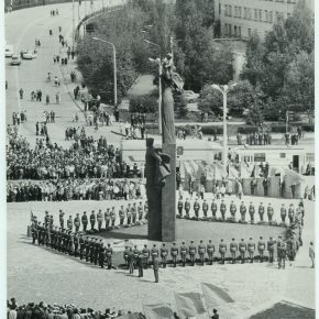 9 мая 1975 года. Пенза. Открытие мемориала воинской и трудовой доблести. Репортаж